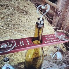 Wine Gift Wine Glass Holder Wine Bottle With by DownInTheBoondocks, $16.00