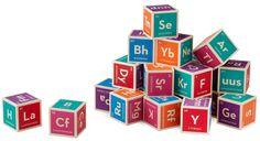 Periodic table building blocks. Perfect for the child of a chemical engineer. Right?
