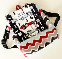 Riley Blake Designs Speedster Fabric: Fishsticks Backpack Pattern