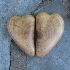 Wood hearts in gift box  Love  carved by NaturesArtMelbourne