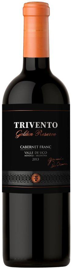 """Golden Reserve"" Cabernet Franc 2013 -  Bodega Trivento, Maipú, Mendoza-----------------Terroir: Paraje Altamira (San Carlos)----------Crianza: 16 meses en barricas de roble francés,  50% primer uso y 50% segundo uso"