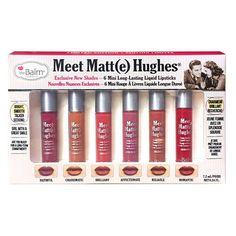 The Balm Cosmetics - Meet Matte Hughes - Set of 6 Mini Liquid Lipsticks
