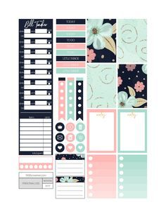 Free Printable Midnight in the Garden Planner Stickers from Fit Life Creative