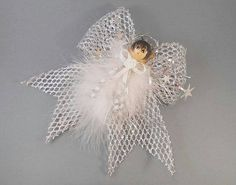 Angel Ornament Victorian Silver Angel Keepsake Angel