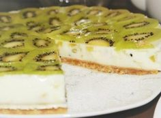Jogurtový dort s kiwi bez pečení Kiwi, Smoothie, Cheesecake, Sweets, Cookies, Desserts, Recipes, Food, Pastries