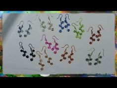How to Construct Wire Earrings with Multiple Spirals - YouTube