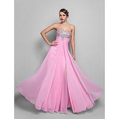 vestido sin tirantes de la Piso-longitud de la gasa de la tarde / del baile (551327) - EUR € 81.67