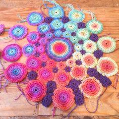 Crochet colour wheel project by Amanda Perkins 2015 #crochet #rainbow