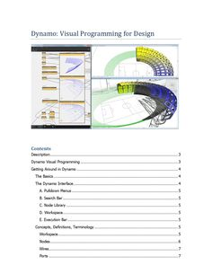 Dynamo visual programming for design