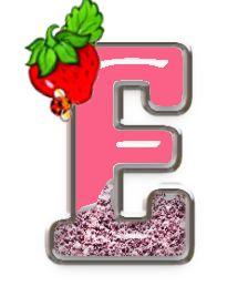Alfabeto escarchado con fresa y mariquita. - Oh my Alfabetos!