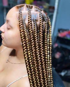 Big Box Braids Hairstyles, Hair Ponytail Styles, Black Girl Braided Hairstyles, African Braids Hairstyles, Baddie Hairstyles, Pretty Hairstyles, Braid Styles, Braids For Black Hair, Black Girl Braids