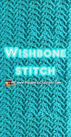 Wishbone Crochet Stitch Tutorials Crochet tutorial that teaches you how to do this very textured stitch using front post double crochets, double crochets and single crochets. Find more crochet stitches here on the category Crochet Stitches Free, Crochet Motifs, Crochet Geek, Tunisian Crochet, Afghan Crochet Patterns, Knitting Stitches, Crochet Crafts, Crochet Unique, Easy Crochet
