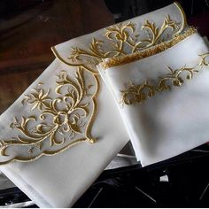 New Project Ideas, Gold Work, Cutwork, Reveal Parties, Napkin Rings, Hand Embroidery, Decorative Pillows, Crochet, Diy And Crafts