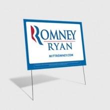 Official Romney-Ryan Yard Sign