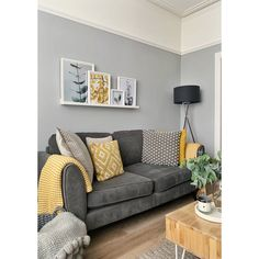 Picture shelf above sofa in Victorian terrace house. Botanical prints, grey and … Picture shelf above sofa in Victorian terrace house. Botanical prints, grey and mustard colours. Mustard Living Rooms, Grey And Yellow Living Room, Navy Living Rooms, Living Room Sofa, Home Living Room, Apartment Living, Charcoal Sofa Living Room, Living Room Ideas With Grey Sofa, Yellow Gray Room