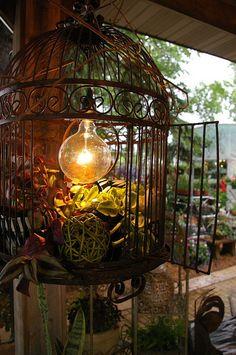 Birdcage Light--for the sunroom  #onekingslane  #designisneverdone