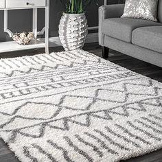 nuLOOM Soft and Plush Geometric Drawings Shag Area Rugs, ...