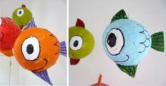paper mache fishes!