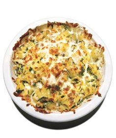 Cheesy Baked Pasta With Spinach and Artichokes|Imagine hot artichoke-spinach dip served over pasta, and you'll get an idea of how satisfying this baked dish is.