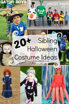 See this list of over 20 Sibling Halloween Costumes.