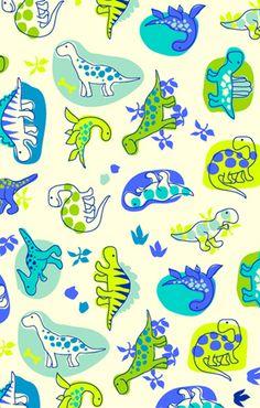 print & pattern Cute Wallpaper Backgrounds, Pretty Wallpapers, Iphone Wallpaper, Dinosaur Pattern, Cute Dinosaur, Die Dinos Baby, Dinosaur Wallpaper, Scrapbook Patterns, Kids Prints