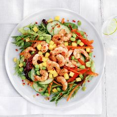 Vietnamese Chilli and Coriander Prawn Salad, a delicious recipe from the new Cook with M