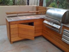 This photo hosted by SmugMug; your photos look better here. Outdoor Grill Area, Outdoor Grill Station, Outdoor Bbq Kitchen, Outdoor Barbeque, Patio Grill, Patio Kitchen, Outdoor Kitchen Design, Backyard Patio, Outdoor Kitchens