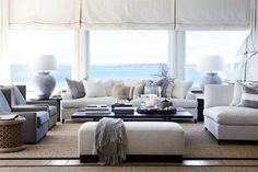 Modern Coastal Living Room Interior Ideas – Decorating Ideas - Home Decor Ideas and Tips - Page 79 Beach Living Room, Coastal Living Rooms, Living Room Interior, Home Interior Design, Home And Living, Living Room Decor, Living Spaces, Interior Ideas, Coastal Cottage
