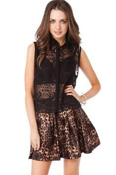 Dream Lace Top in Black / ShopSosie #lace #tops #black #scallop #shopsosie