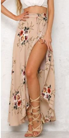 Boho Floral Print Maxi Skirts - The latest in Bohemian Fashion! These literally go viral!