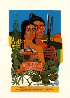 Vera Cortes Taino Serigraph Mini Poster DIVEDCO Puerto Rico 73  Wow! That framed serigraph was hanging in the wall of our childhood home...