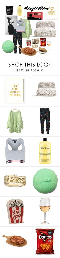 """staycation"" by hanahbare-1999 ❤ liked on Polyvore featuring Opinion Ciatti, Topshop, philosophy, Marc Blackwell and Core Home"