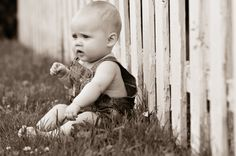 """Outdoor Sepia Baby photo, candid child photography, kid portraits - Giraffe Photography  """"A Head Above the Rest""""  www.giraffephoto.com"""