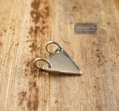 Sterling Silver Triangle Stamping Blank Geometric Small Charm by lillysbeadbox. Explore more products on http://lillysbeadbox.etsy.com