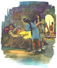 Nsho-Chi nurses the Greenhorn back to health after Winnetou inflicted the famous knife wound, by Heinz Osthoff for Pestalozzi edition of Winnetou I    Karl May / Winnetou I / Bild 06 by micky the pixel, via Flickr
