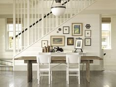 Horizontal white plank walls