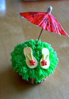 Flip Flop Cupcake Cake | Cupcakes Take The Cake: Flip flop cupcakes