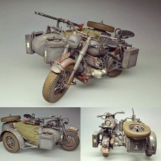 ESCI BMW R75 with sidecar 1/9 Italeri. Modeler Frans van Tilburg #scalemodel #scalemodelkit #plastimodelismo #plasticmodel #plastimodelo #esci #miniatura #miniature #maqueta #maquette #modelismo #modelism #modelisme #war #guerra #guerre #bataille #miniatur #hobby #diorama #passatempo #tiempolibre #ミニチュア #моделизм #italeri #bmw Tamiya Model Kits, Tamiya Models, Diecast Models, Miniatur Motor, Bmw Boxer, Model Hobbies, Military Modelling, Military Diorama, Sidecar