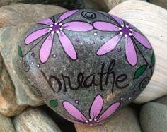 Happy Rock Carpe Diem Painted River Rock by LynnsFunCreations