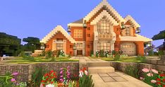 Live In Style With These 5 Incredible Minecraft House Tutorials Lego Minecraft, Minecraft Villa, Minecraft House Plans, Minecraft World, Modern Minecraft Houses, Minecraft House Tutorials, Minecraft Houses Survival, Minecraft House Designs, Minecraft Construction