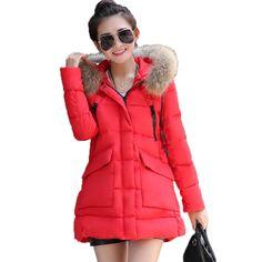 2017 New Female Wadded Jacket Women's Winter Jacket Cotton Hooded Coat Slim Parkas Ladies Jackets And Coats Plus Size XXXL