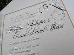 Elegant Wedding  - Custom Paper Goods by Le Petit Papier - www.lepetitpapierbymonica.com