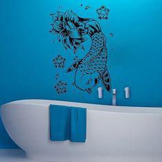 Wall Decals Koi Fish Decal Vinyl Sticker Bathroom Window Nursery Bedroom MN191
