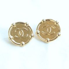 ©miri_mari - Vintage CHANEL CC Big Coin Earrings ~ SOLD OUT