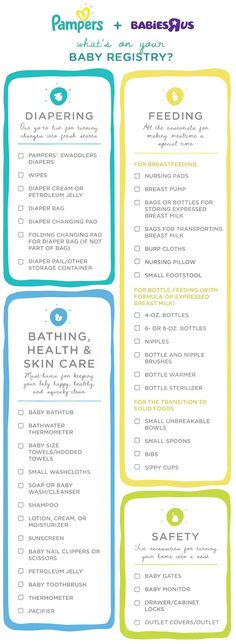 New Mom Baby Registry Checklist [Free Printable] | Free Printable