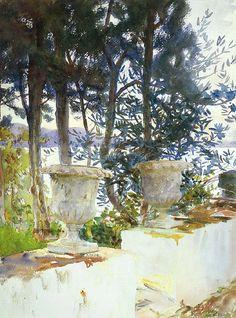 John Singer Sargent, The Terrace, Corfu, 1909.
