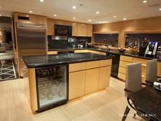 Galley with Guest Seating - LADY SHARON GALE Yacht Charter