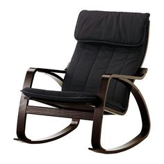 Ikea Poang Rocking Chair Black Brown with Cushion *** Details can be found by clicking on the image.Note:It is affiliate link to Amazon.