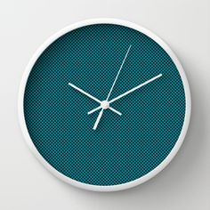 Houndstooth Black & Teal small Wall Clock by Julie's Thingummies - $30.00 Hounds Tooth, Dog Teeth, Board Ideas, Fabric Design, Kitchen Decor, Fabrics, Teal, Clock, Mood