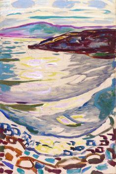 Landscape from Hvitsten, Edvard Munch - 1918